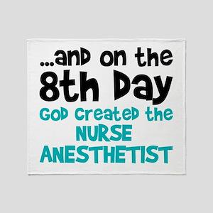 Nurse Anesthetist Creation Throw Blanket