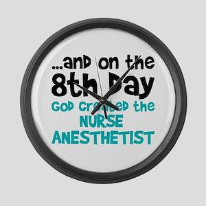 Nurse Anesthetist Creation Large Wall Clock