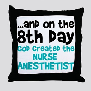 Nurse Anesthetist Creation Throw Pillow