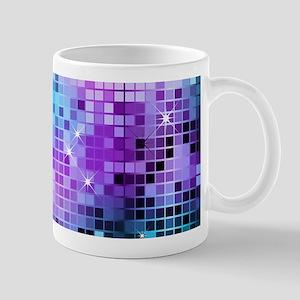 Disco Mirrors in Purple and Green Mugs