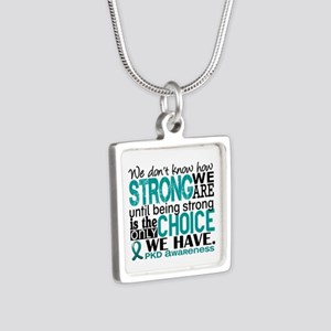 PKD How Strong We Are Silver Square Necklace