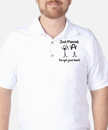 Just Married, Ive Got Your Back Golf Shirt