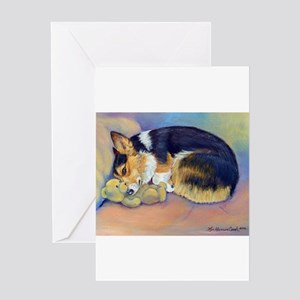 corgimybaby5x7card Greeting Cards