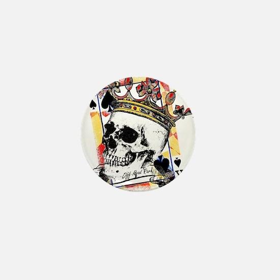King of Spades Skull Mini Button
