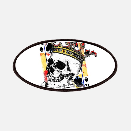 King of Spades Skull Patches