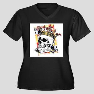 King of Spades Skull Plus Size T-Shirt