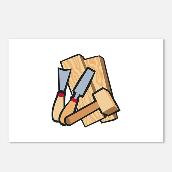 WoodworkingTools Postcards (Package of 8)