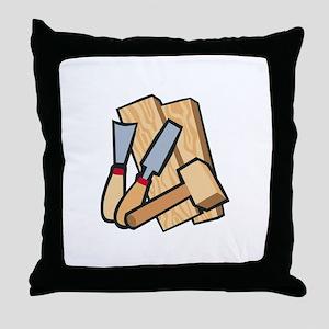 WoodworkingTools Throw Pillow