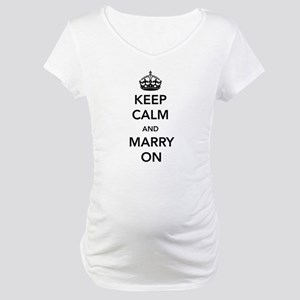 Keep Calm and Marry On Maternity T-Shirt