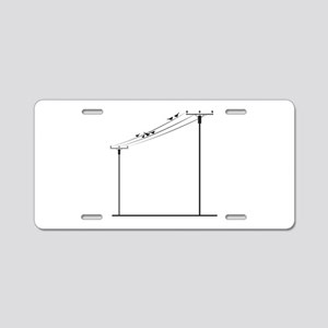 Birds On Wire Aluminum License Plate