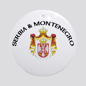 Serbia & Montenegro Coat of A Ornament (Round)