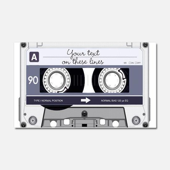 Cassette Tape - Grey Car Magnet 20 x 12