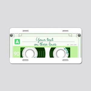 Cassette Tape - Green Aluminum License Plate