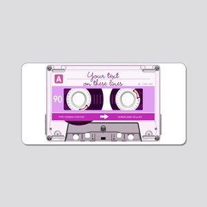Cassette Tape - Pink Aluminum License Plate