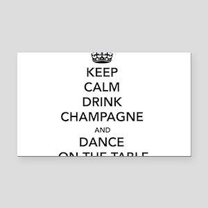 Keep Calm Drink Rectangle Car Magnet