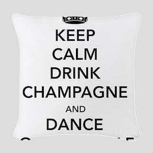 Keep Calm Drink Woven Throw Pillow
