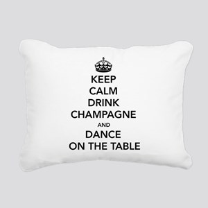 Keep Calm Drink Rectangular Canvas Pillow