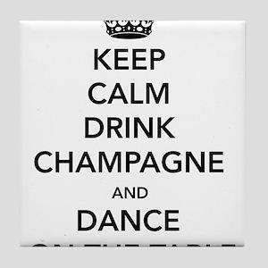 Keep Calm Drink Tile Coaster