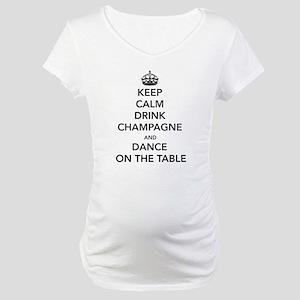 Keep Calm Drink Maternity T-Shirt