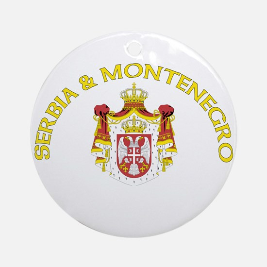 Serbia & Montenegro Coat of A Ornament (Round)