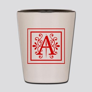 MONOGRAM A RED Shot Glass