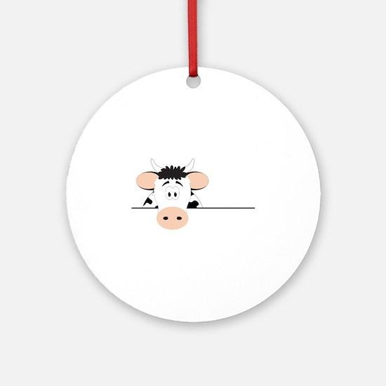 Cow Ornament (Round)