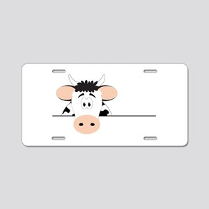 Cow Aluminum License Plate