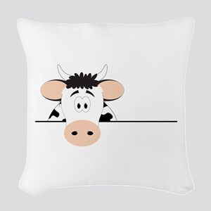 Cow Woven Throw Pillow