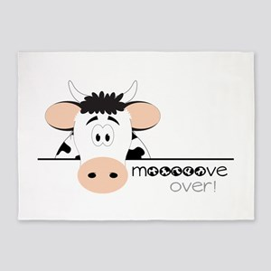 Mooooove Over! 5'x7'Area Rug