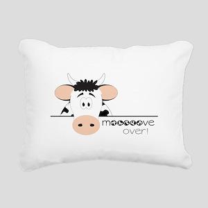 Mooooove Over! Rectangular Canvas Pillow