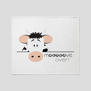 Mooooove Over! Throw Blanket
