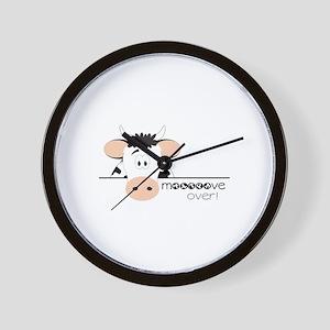 Mooooove Over! Wall Clock