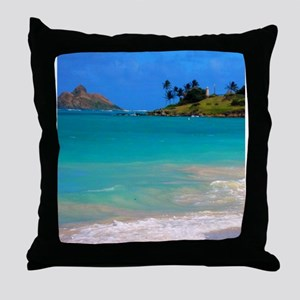 Kailua Beach Throw Pillow