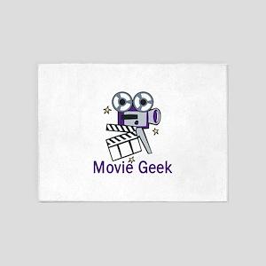 Movie Geek 5'x7'Area Rug