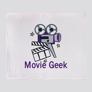 Movie Geek Throw Blanket