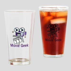 Movie Geek Drinking Glass