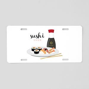 Sushi Snob Aluminum License Plate