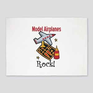 Model Airplanes Rock! 5'x7'Area Rug