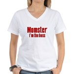 Momster Women's V-Neck T-Shirt