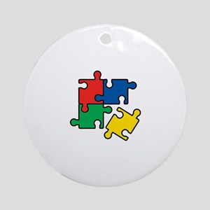44. Jigsaw Puzzle Ornament (Round)