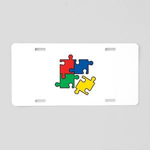 44. Jigsaw Puzzle Aluminum License Plate