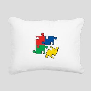 44. Jigsaw Puzzle Rectangular Canvas Pillow