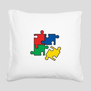 44. Jigsaw Puzzle Square Canvas Pillow
