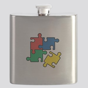 44. Jigsaw Puzzle Flask