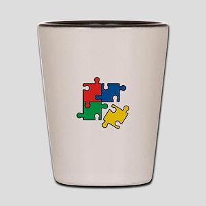 44. Jigsaw Puzzle Shot Glass