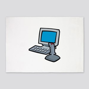 Computer Joystick 5'x7'Area Rug