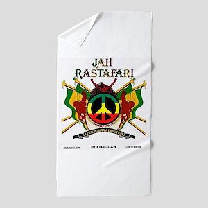 Jah Rastafari Beach Towel