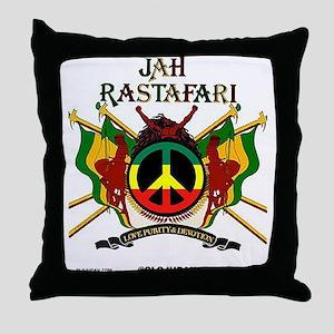 Jah Rastafari Throw Pillow