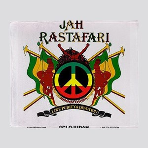 Jah Rastafari Throw Blanket