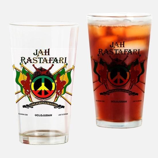 Jah Rastafari Drinking Glass